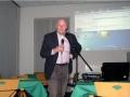 Frank van Manen tijdens zijn lezing over verbreding Panamakanaal