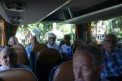Genieten in de bus